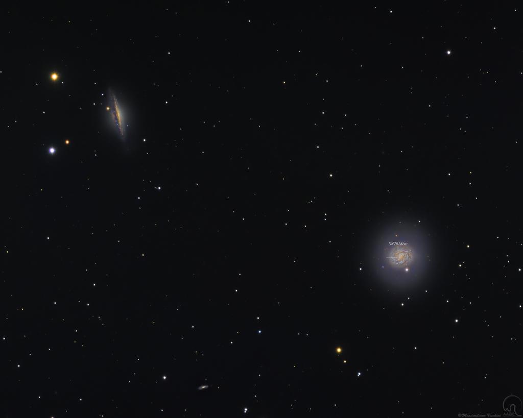 Cetus: galaxias y supernova
