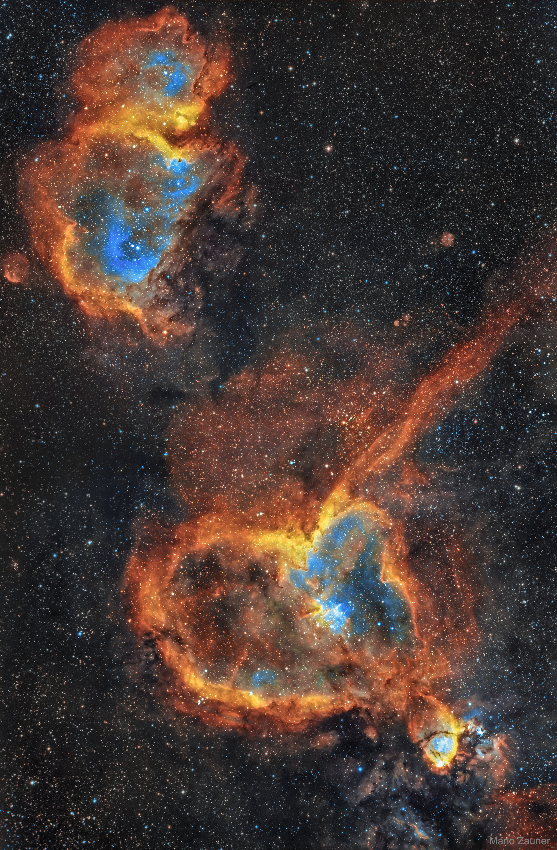 2019 January 15 - The Heart and Soul Nebulas