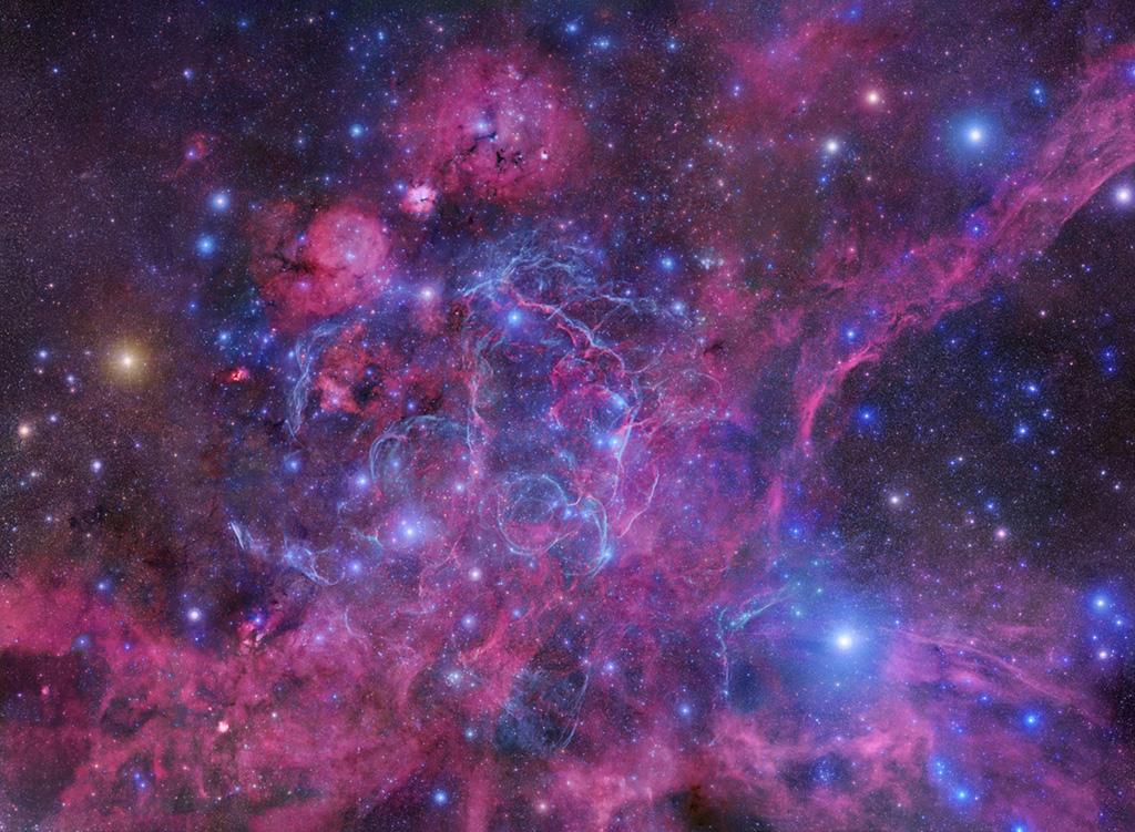 Mosaico del remanente de supernova de Vela