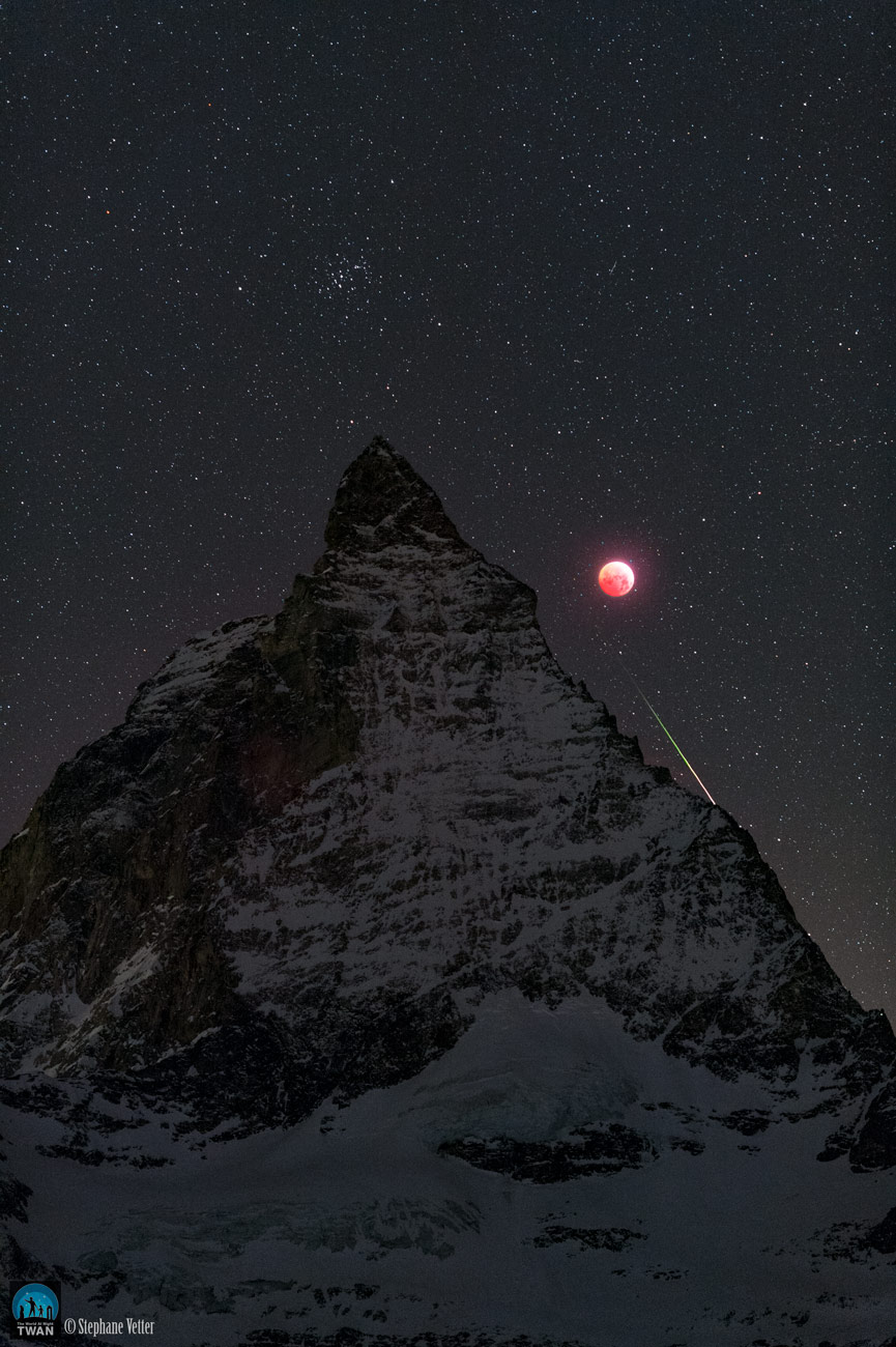 Matterhorn, Moon, and Meteor