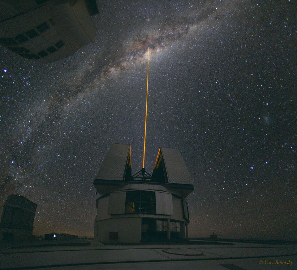 Un láser hacia el Centro Galáctico