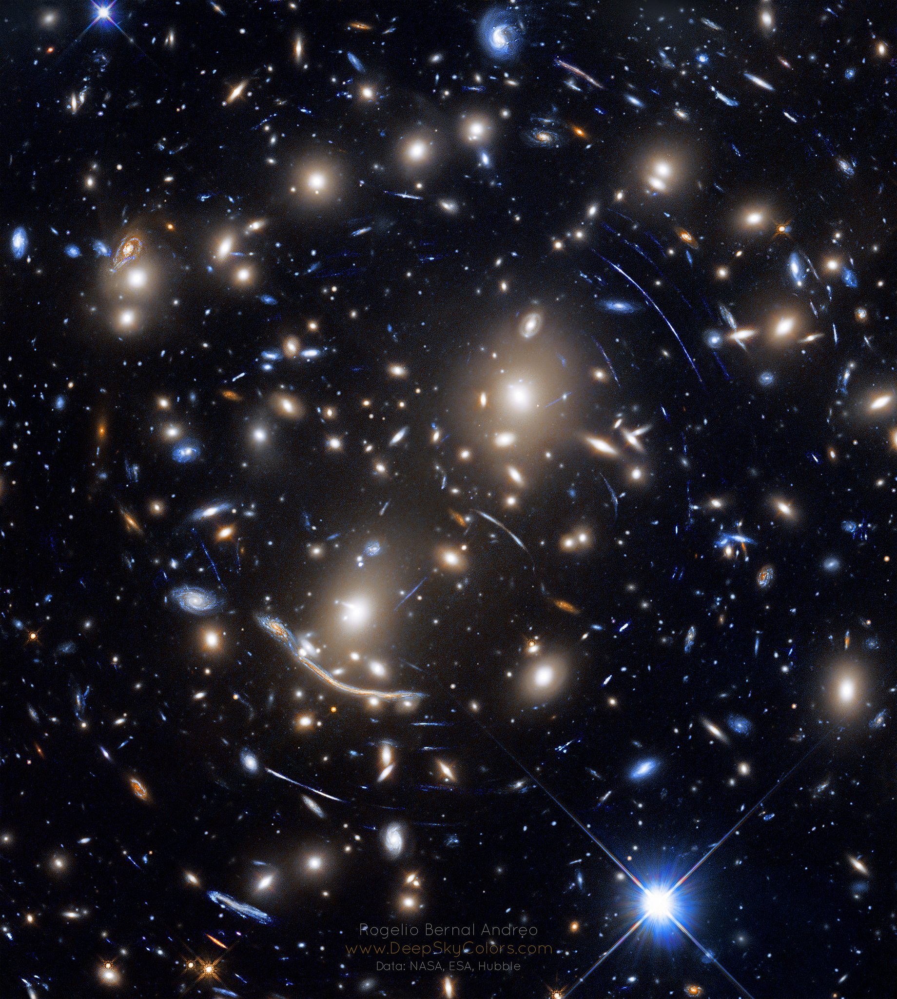 2019 March 19 - Abell 370: Galaxy Cluster Gravitational Lens