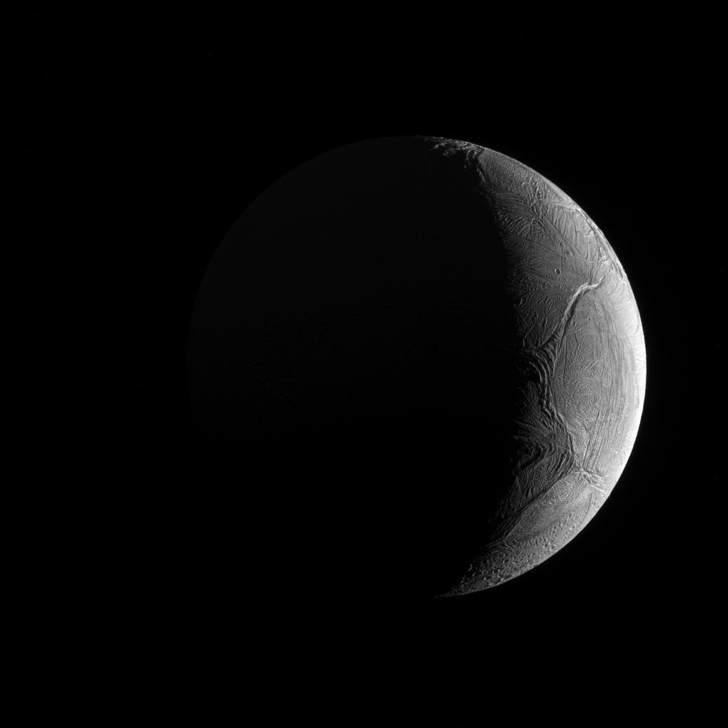 2019 March 9 - Crescent Enceladus