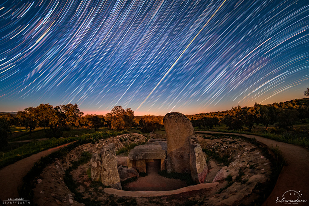 Star Trails and the Equinox Sunrise