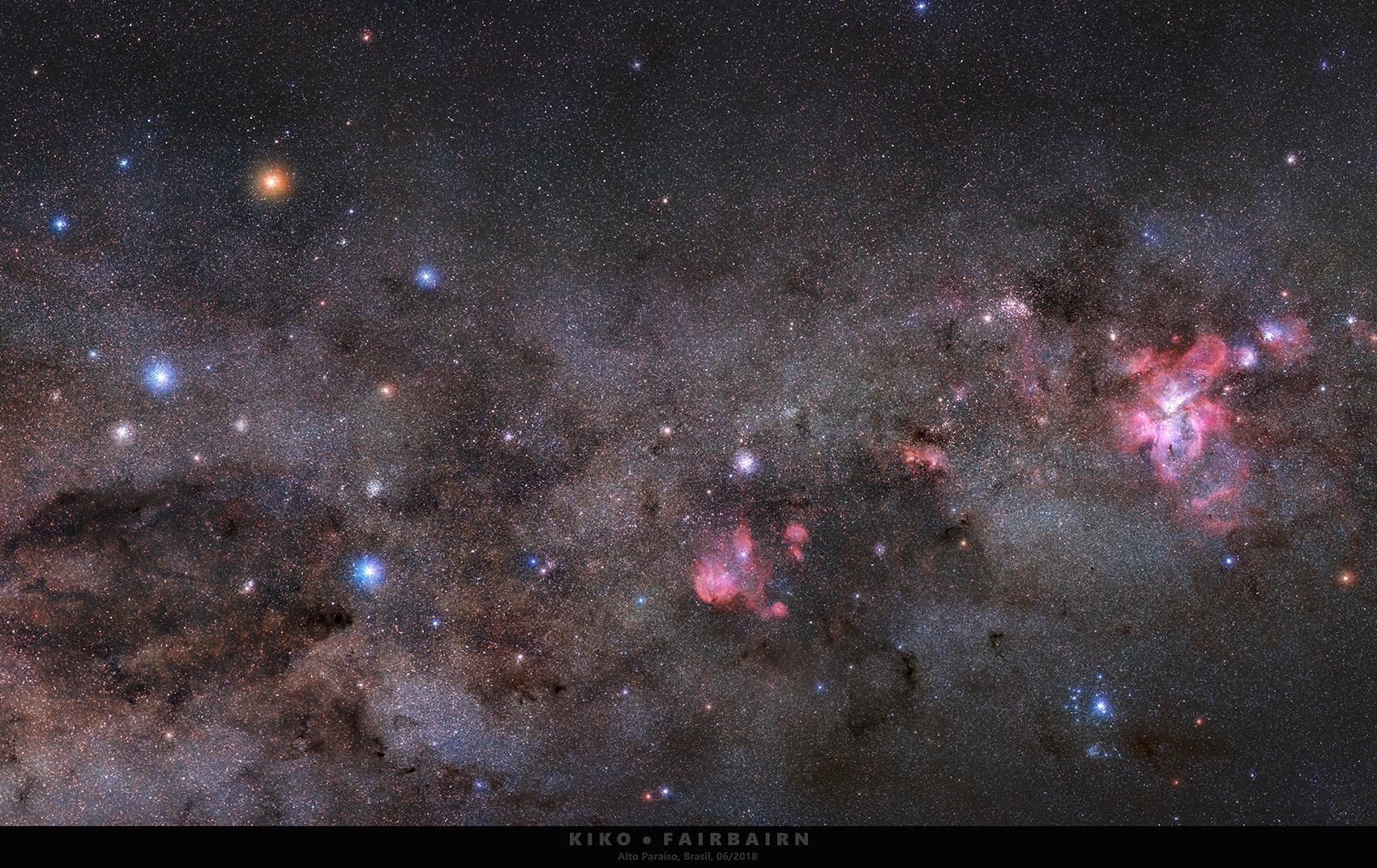 Jižní kříž u Eta Carinae