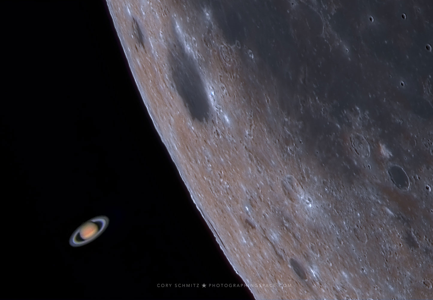 [ASTRONOMIA]   Moon Occults Saturn