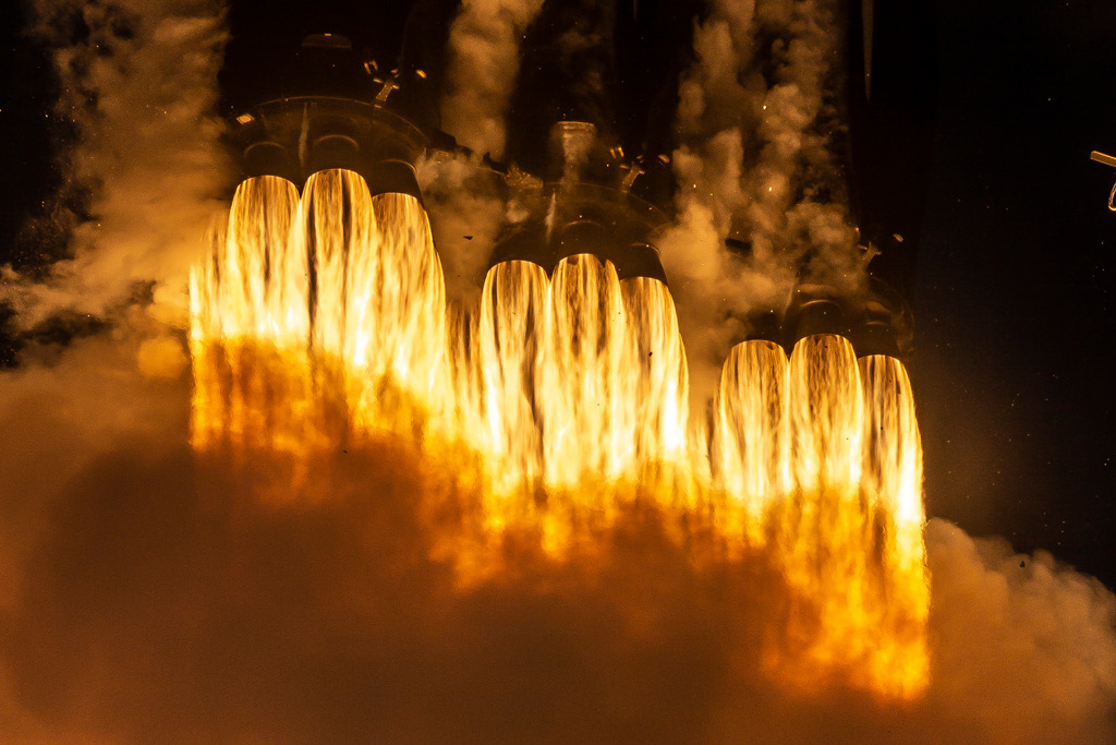 Falcon Heavy Launch Close up