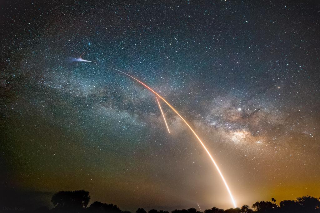 Mléčná dráha, start a přistání