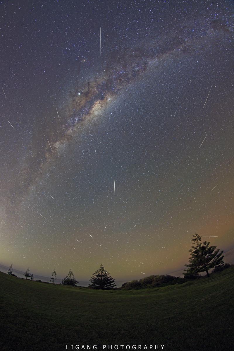 El polvo de Halley y la Vía Láctea