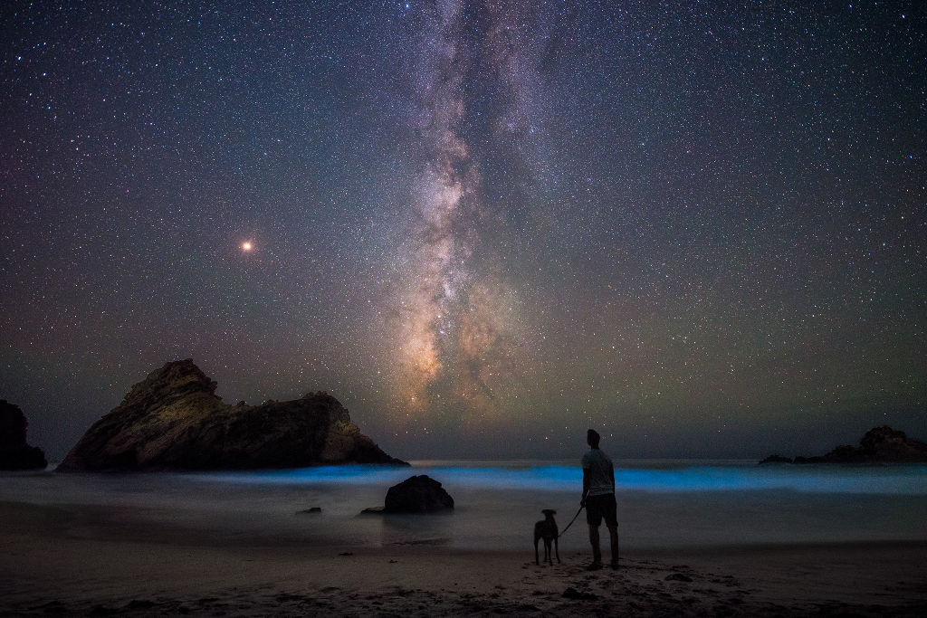 En la playa con Marte