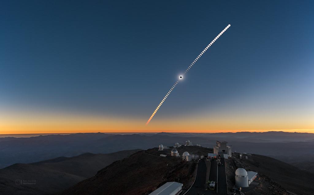 Secuencia de eclipse en La Silla