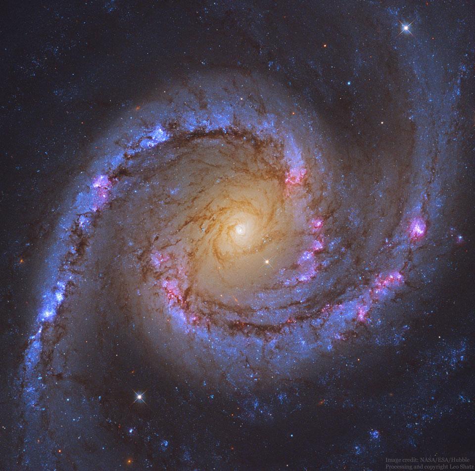 NGC 1566: Spirální galaxie Španělská tanečnice