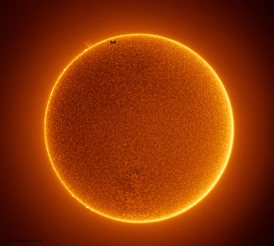 The Space Station Crosses a Spotless Sun  Image Credit & Copyright: Rainee Colacurcio