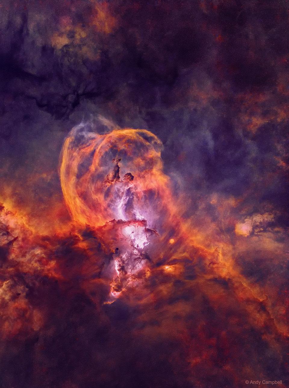 Región de formación estelar NGC 3582 sin estrellas