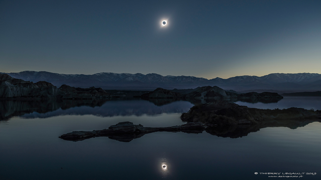 A Total Solar Eclipse Reflected