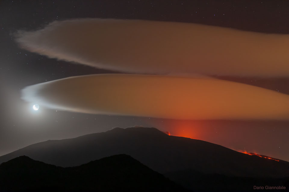 Lenticular Clouds over Mount Etna