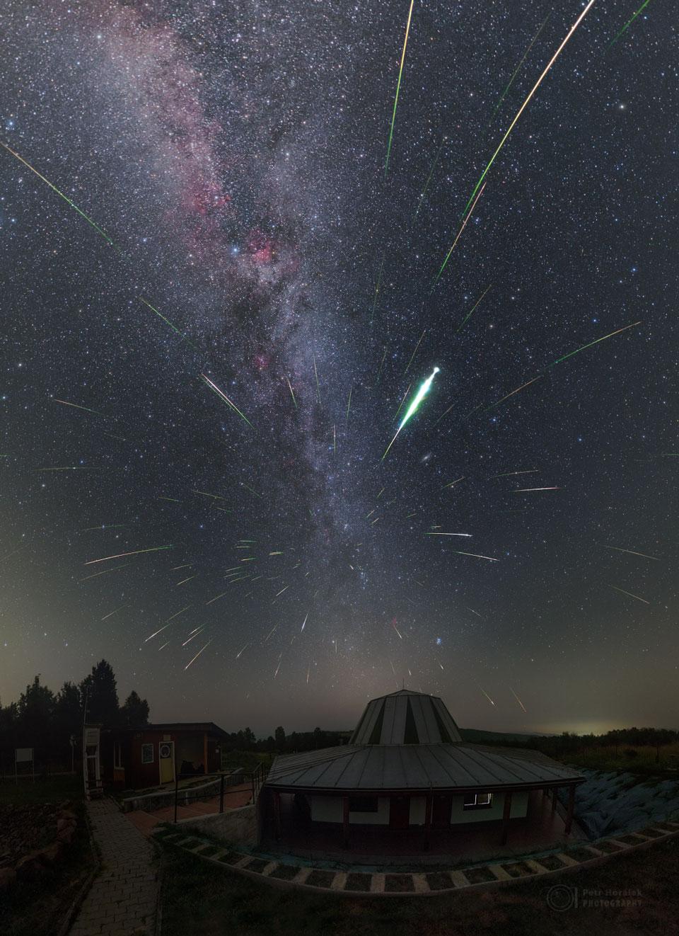 Meteoros Perseidas sobre Eslovaquia
