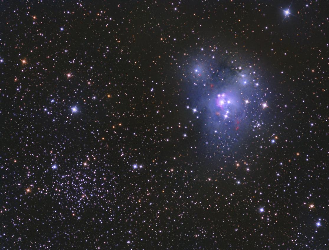 NGC 7129 y NGC 7142