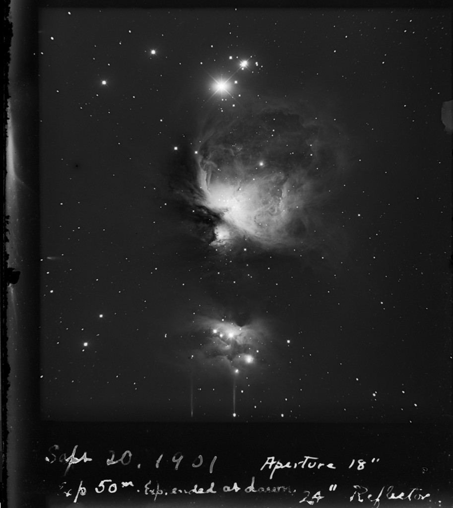 1901 Photograph: The Orion Nebula