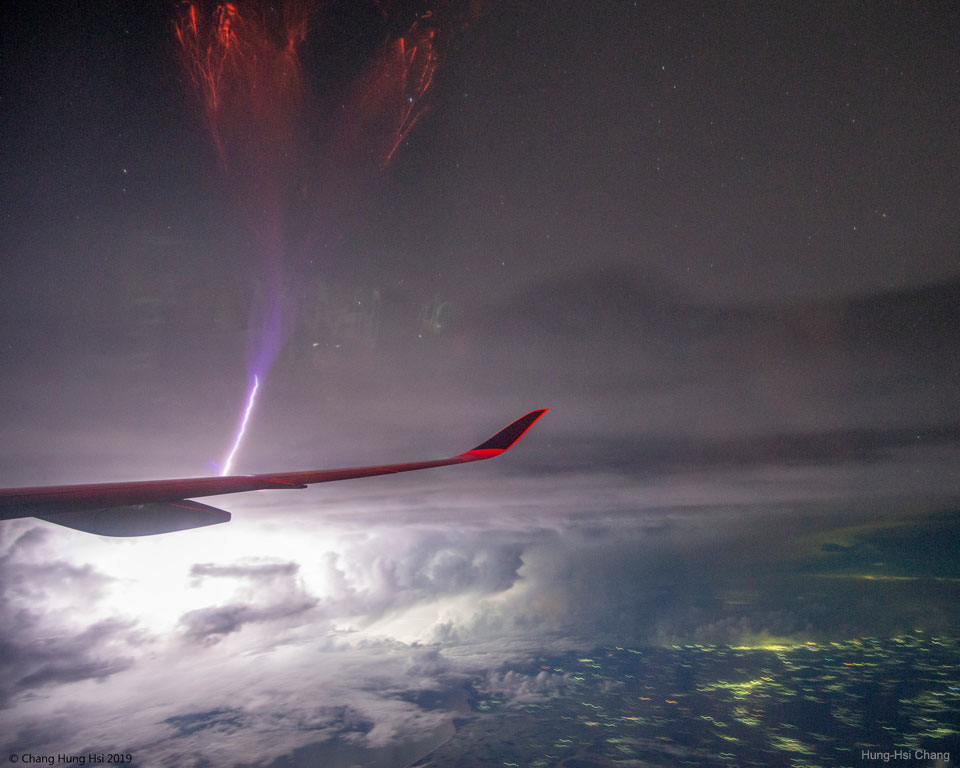 Gigantic Jet Lightning over India