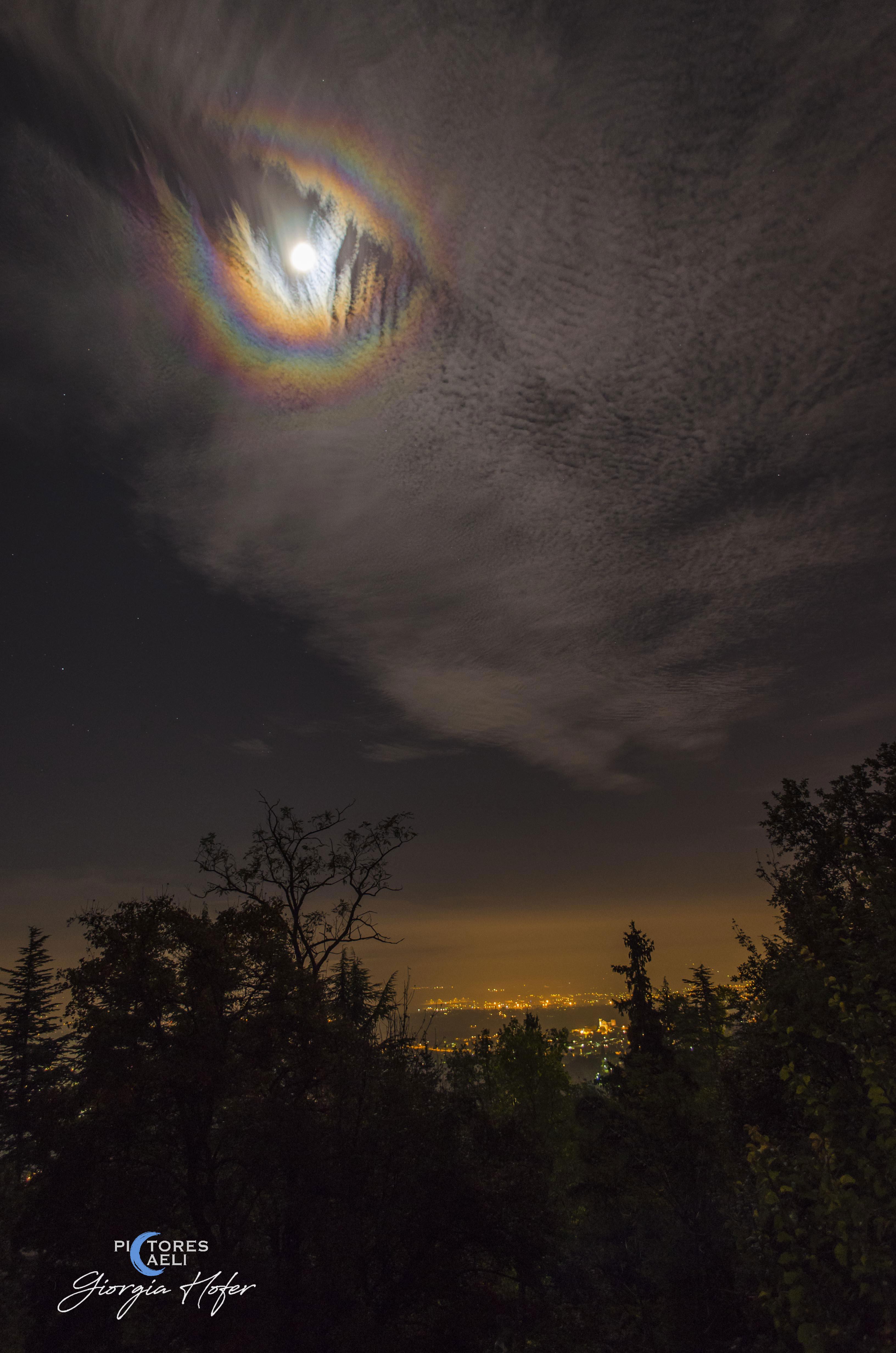 A Lunar Corona over Turin