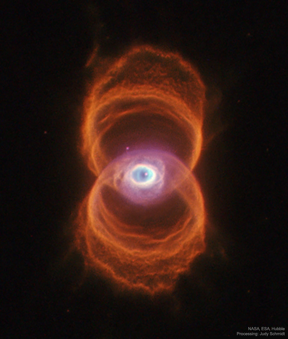 APOD: 2019 September 29 - MyCn 18: The Engraved Hourglass Planetary Nebula