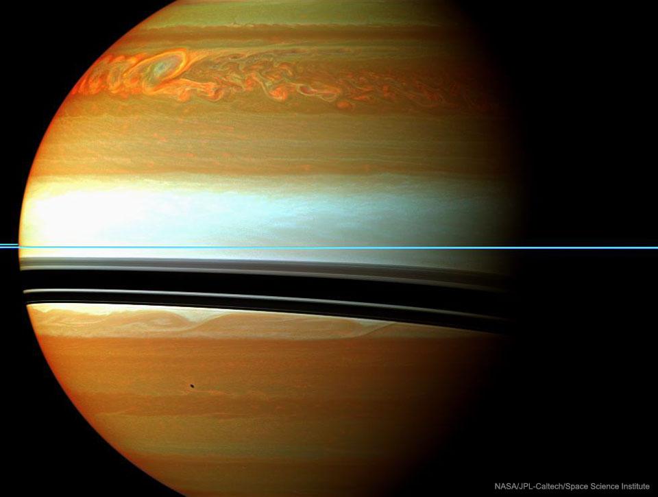 Dlouhodobý bouřkový systém na Saturnu
