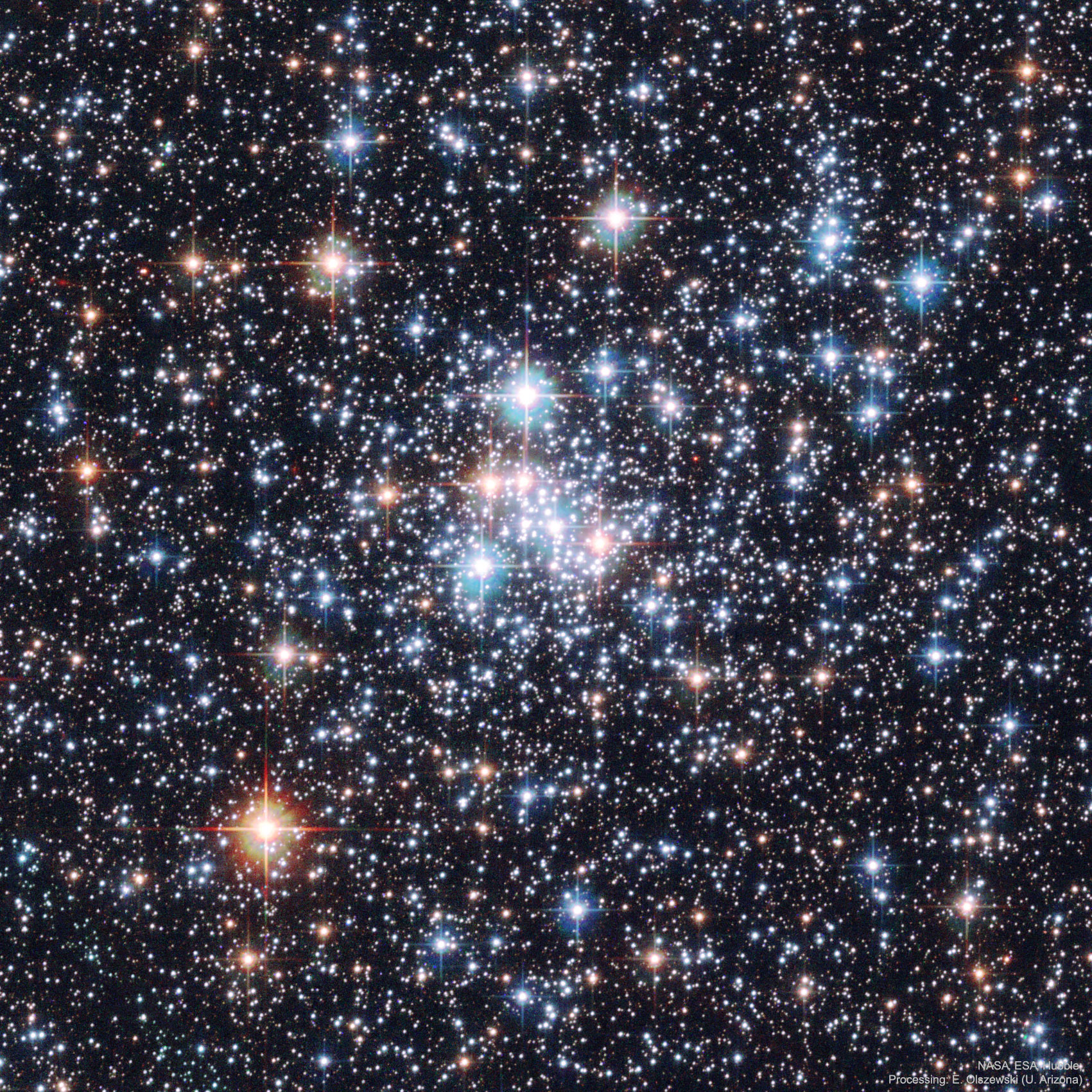 APOD: 2019 October 13 - A Stellar Jewel Box: Open Cluster NGC 290