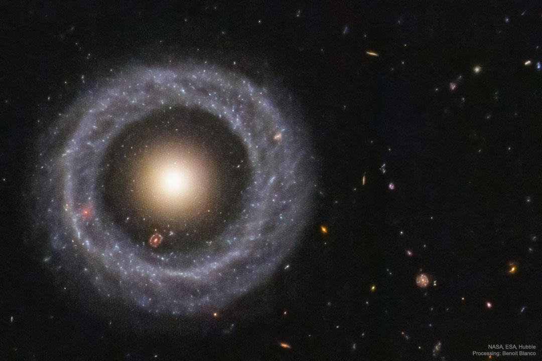 Objeto Hoags: una galaxia de anillo casi perfecta