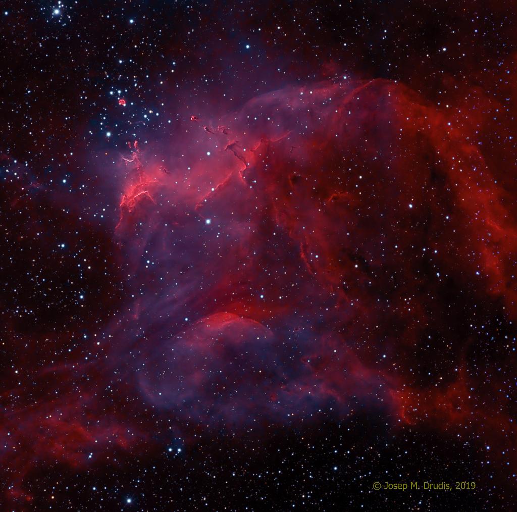 NGC 3572 a Jižní pulci