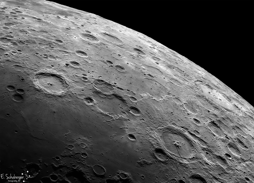 Lunar Craters Langrenus and Petavius