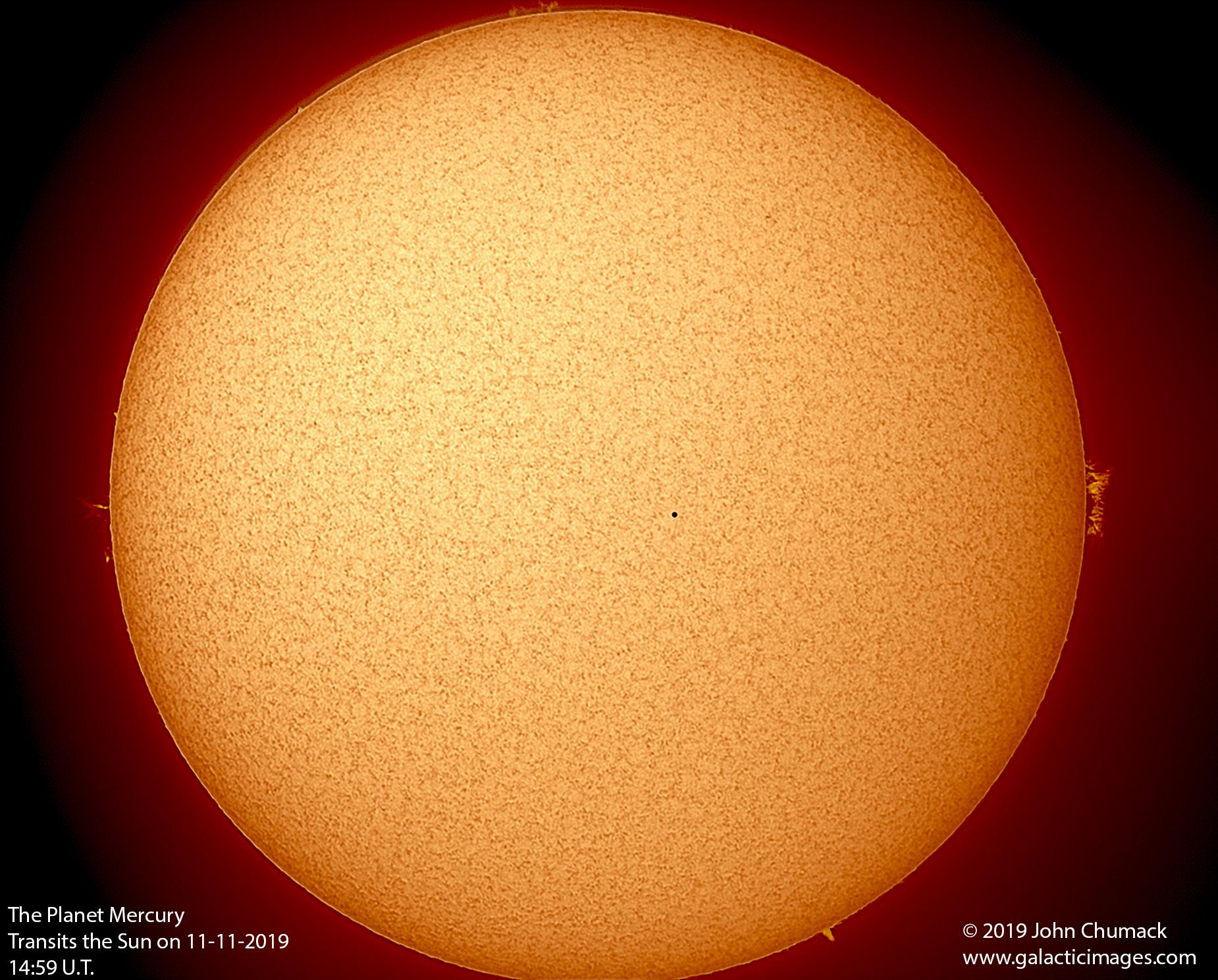 APOD: 2019 November 14 - Mercury and the Quiet Sun