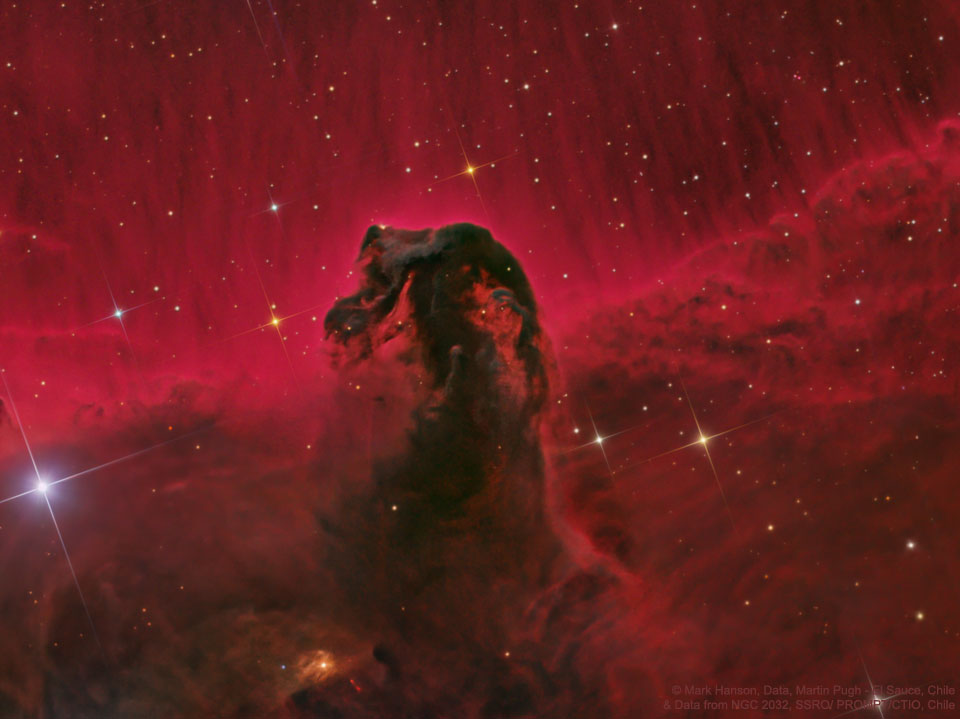 La nebulosa Cabeza de Caballo esculpida