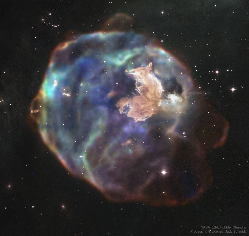 N63A: Supernova Remnant in Visible and X-ray