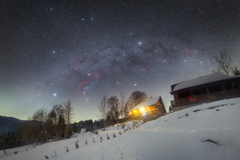 El hexágono de invierno del norte