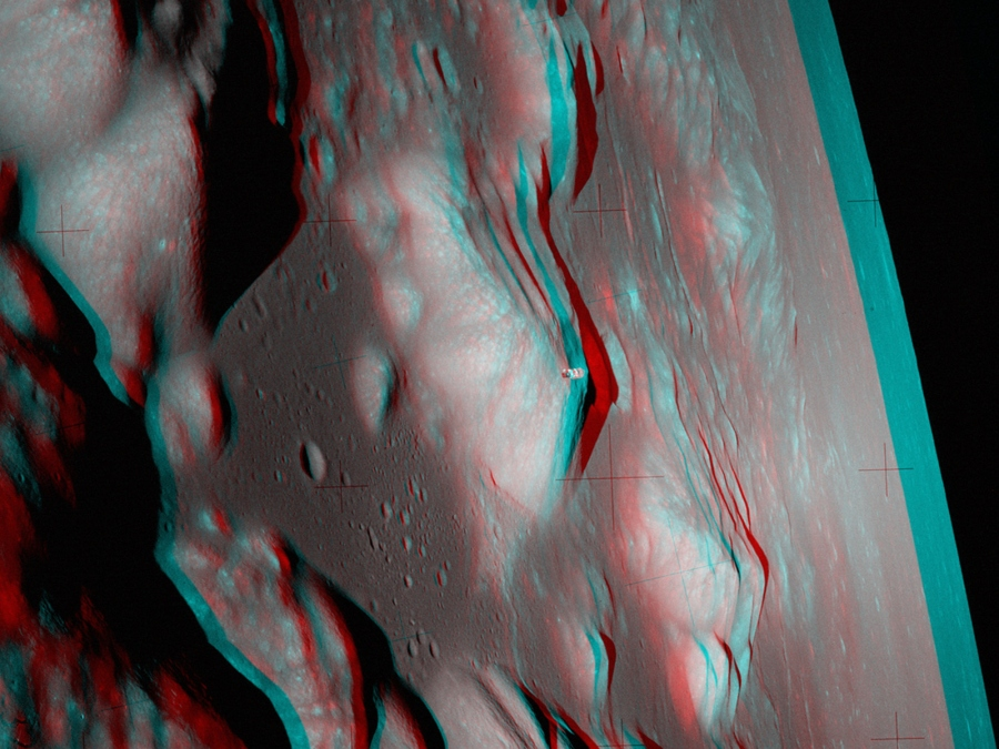 Apollo 17: A Stereo View from Lunar Orbit
