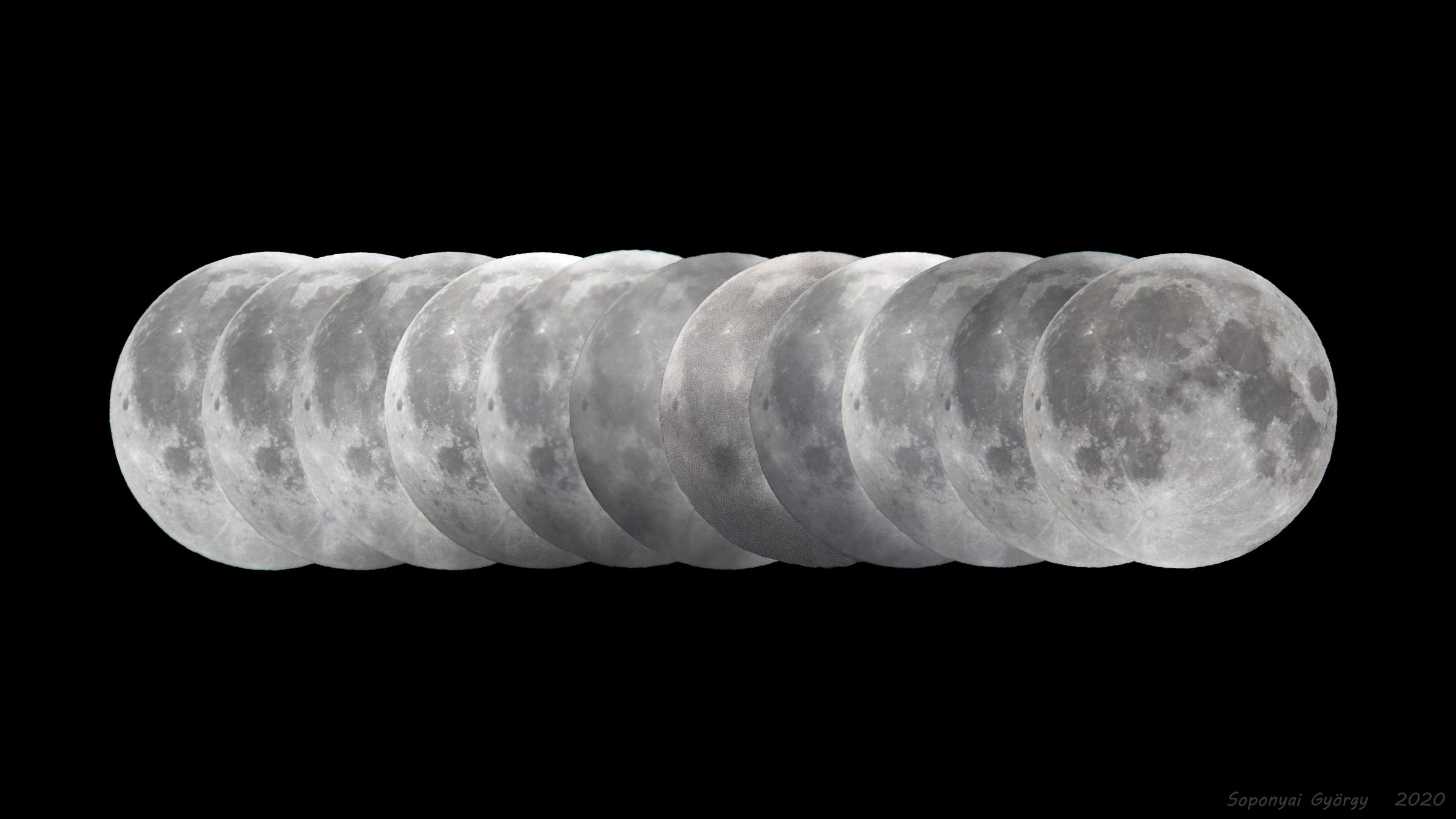 VCSE - Félárnyékos Holdfogyatkozás - Forrás: APOD, Soponyai György