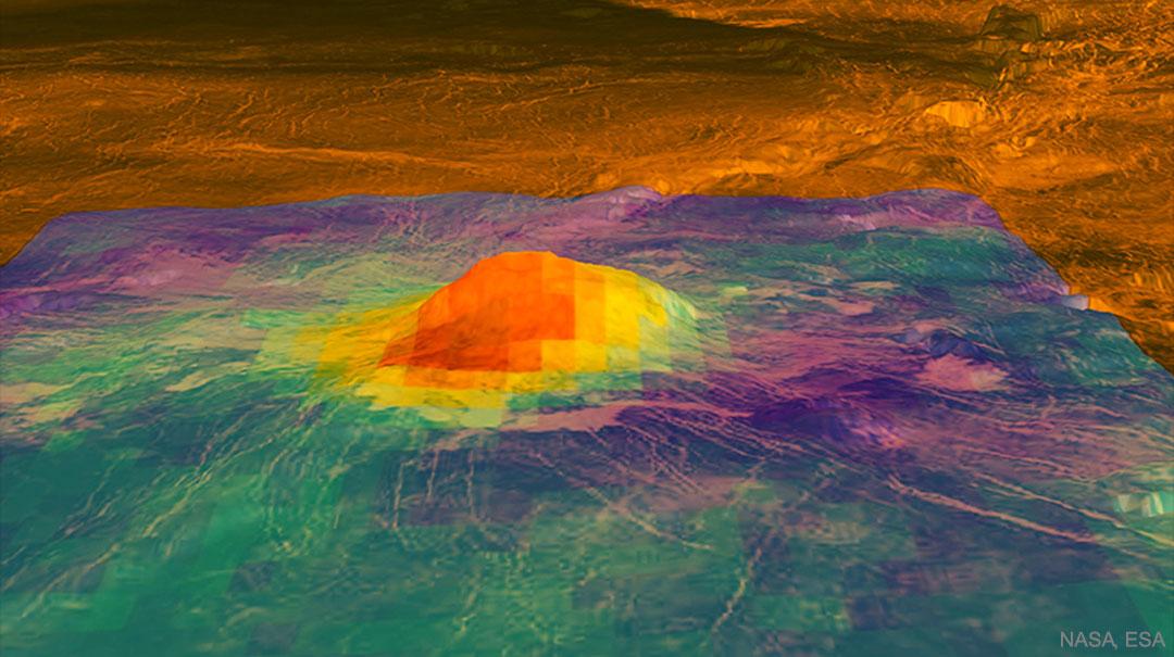 Evidencia de un volcán activo en Venus