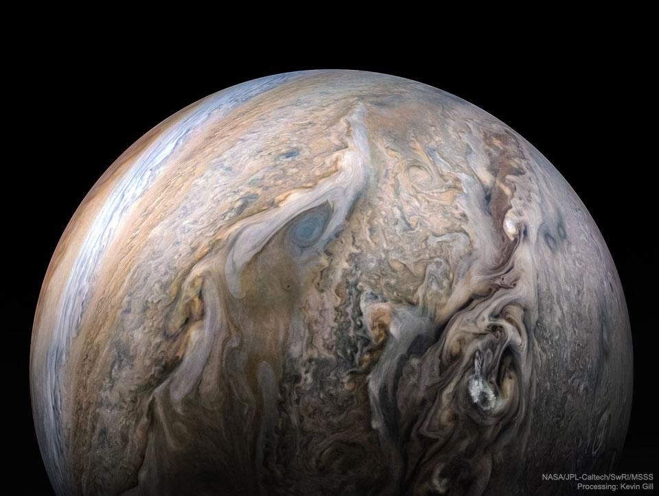 Nubes tumultuosas de Júpiter