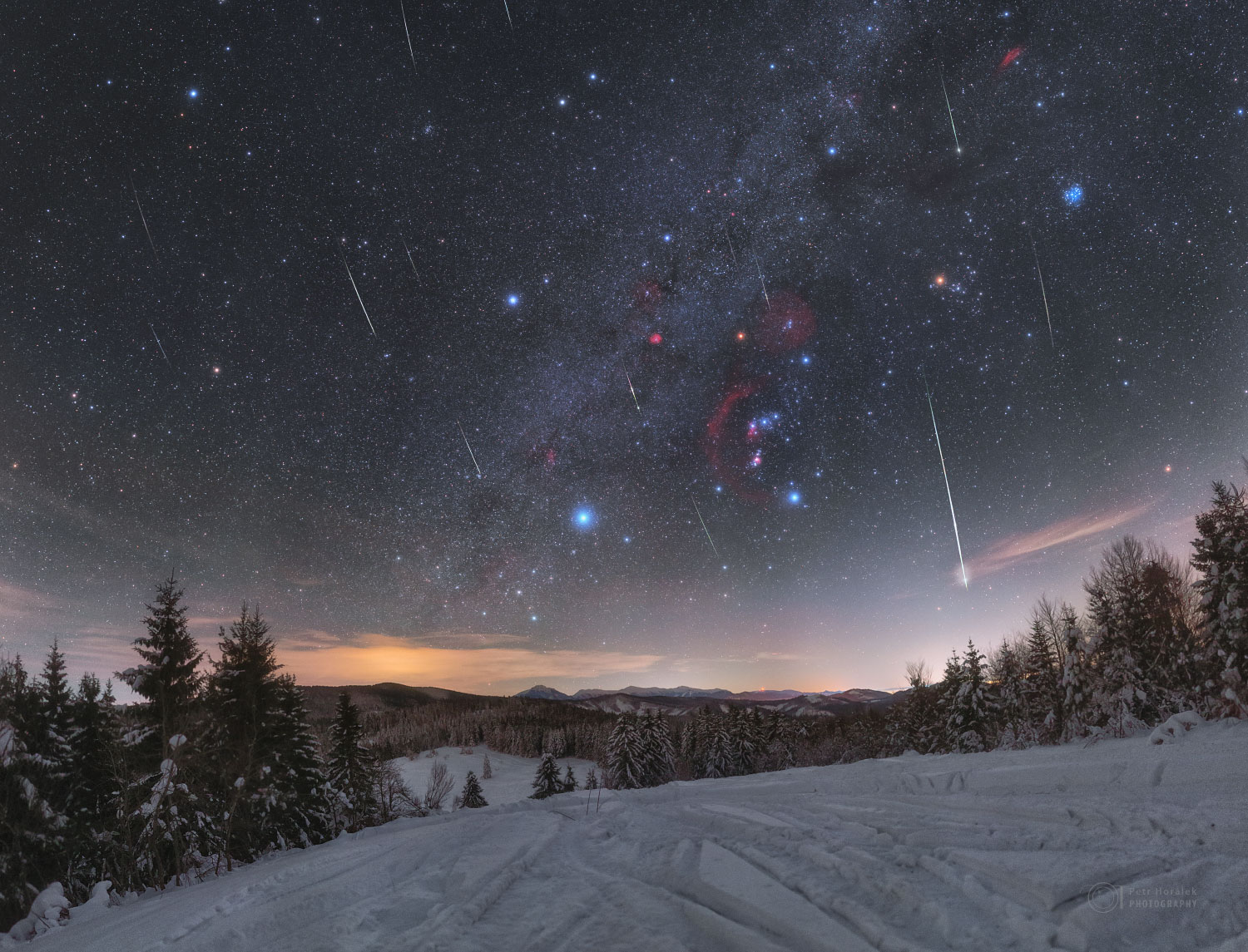 Quadrantid Meteors through Orion