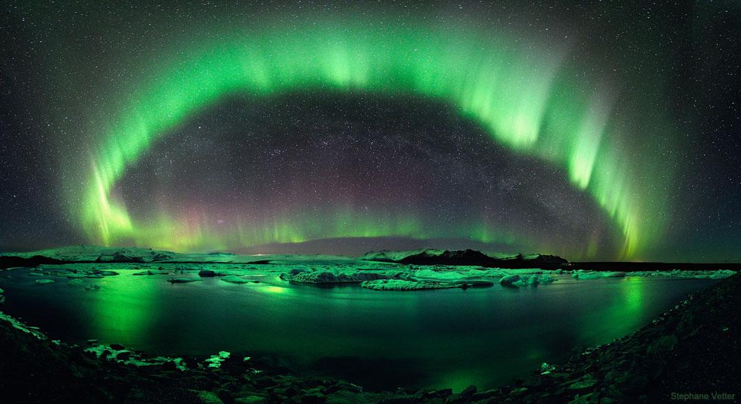 Una noche estrellada de Islandia