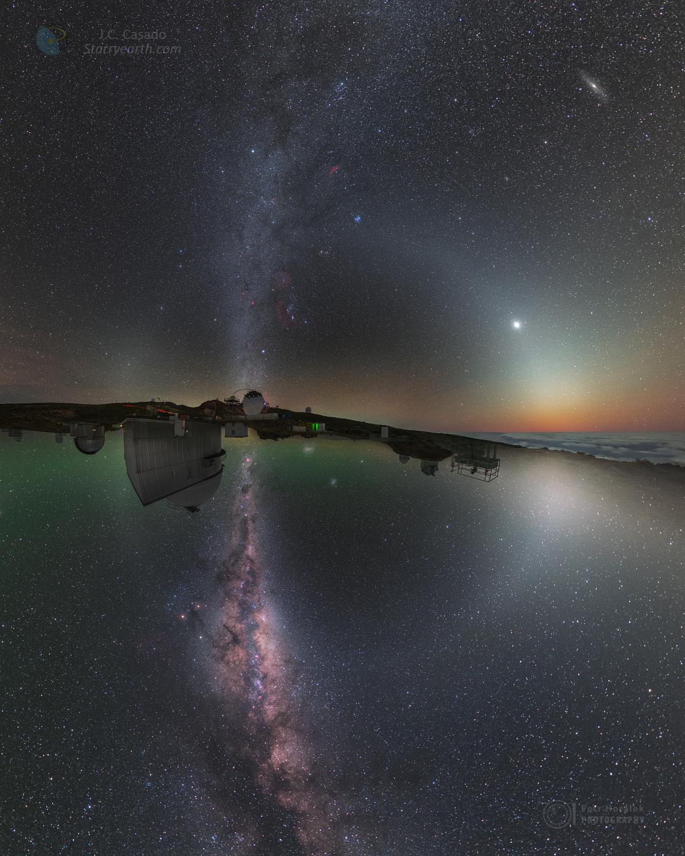 [ASTRONOMIA]   ¨  Two Hemisphere Night Sky