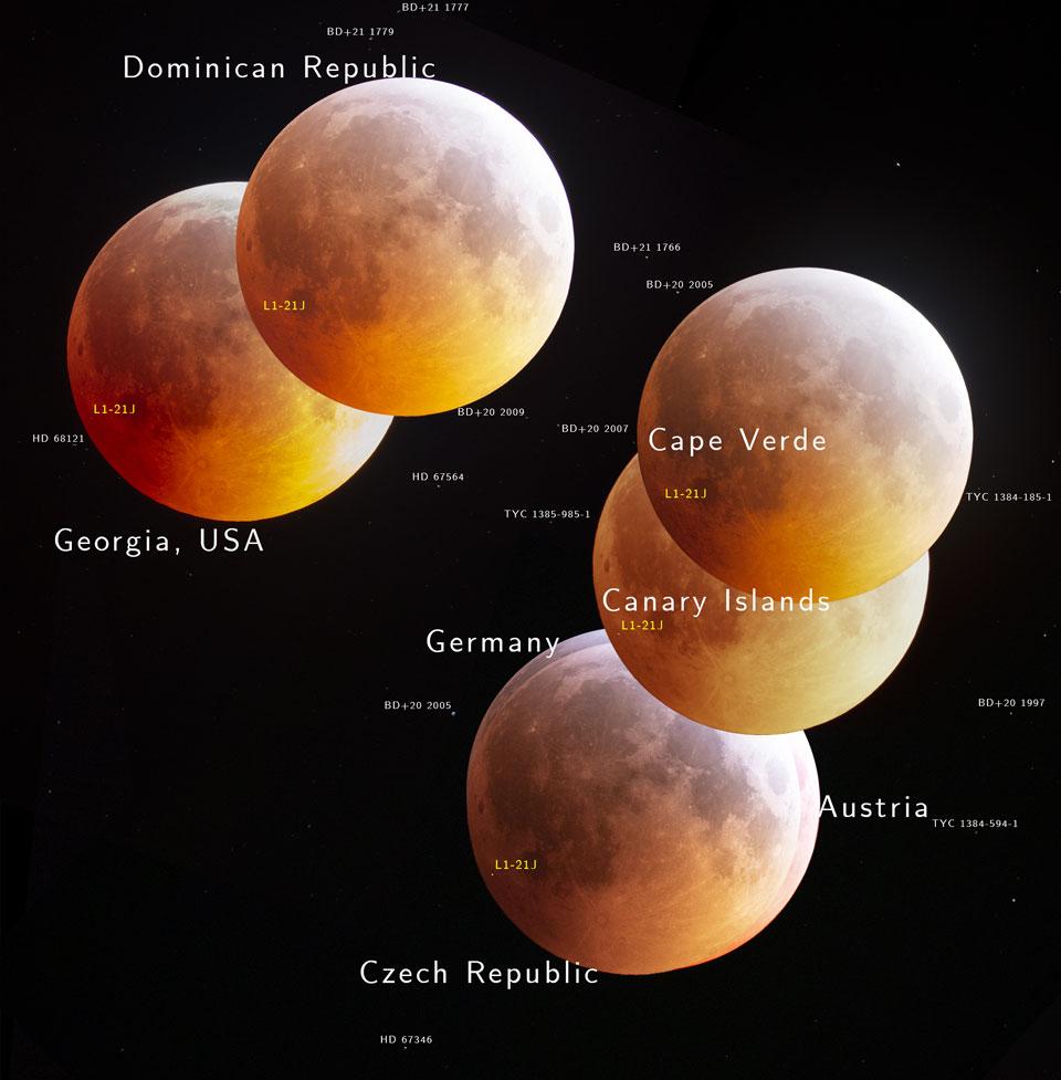 Perspektivy zatmění Měsíce