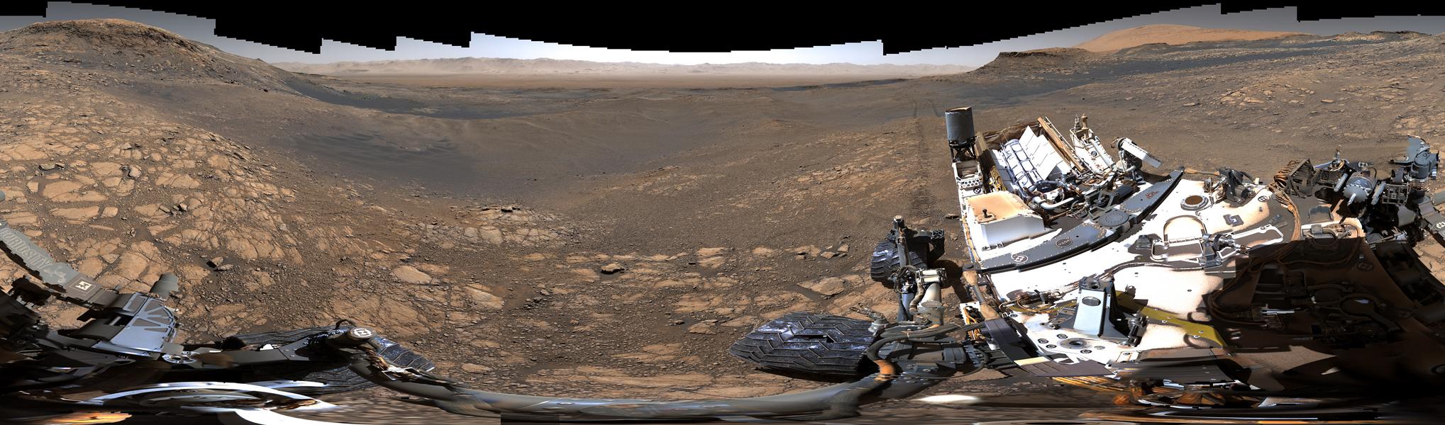 Panoráma Marsu z Curiosity