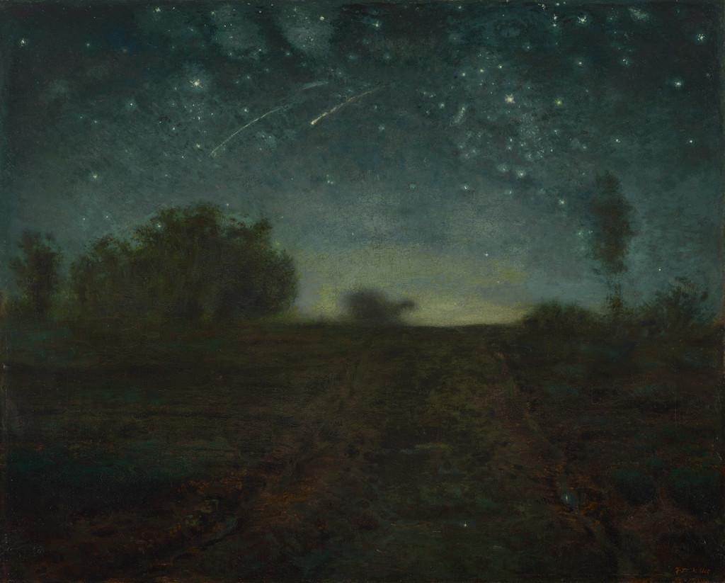 Noche estrellada de Jean François Millet