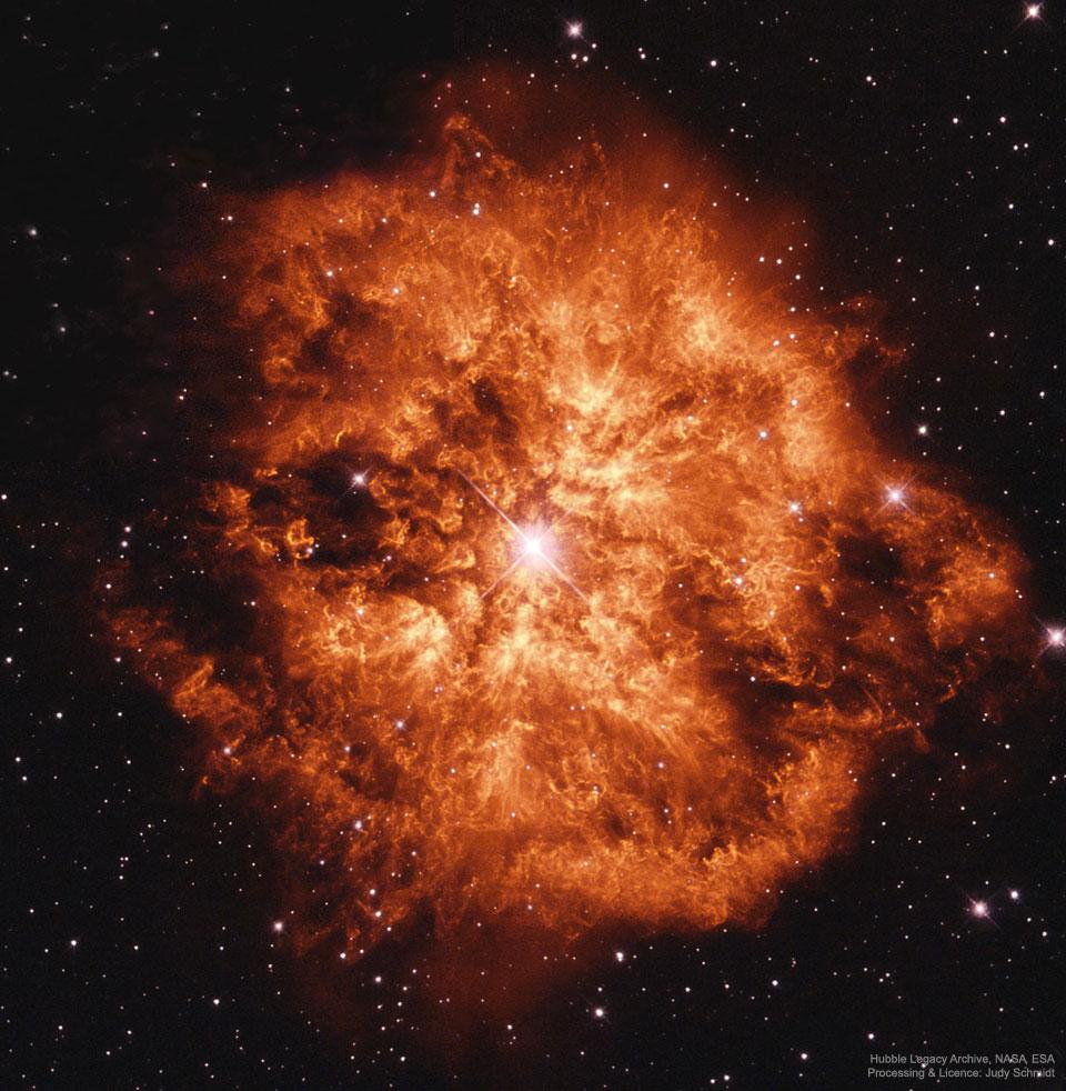 Wolf Rayet Star 124: Máquina de viento estelar
