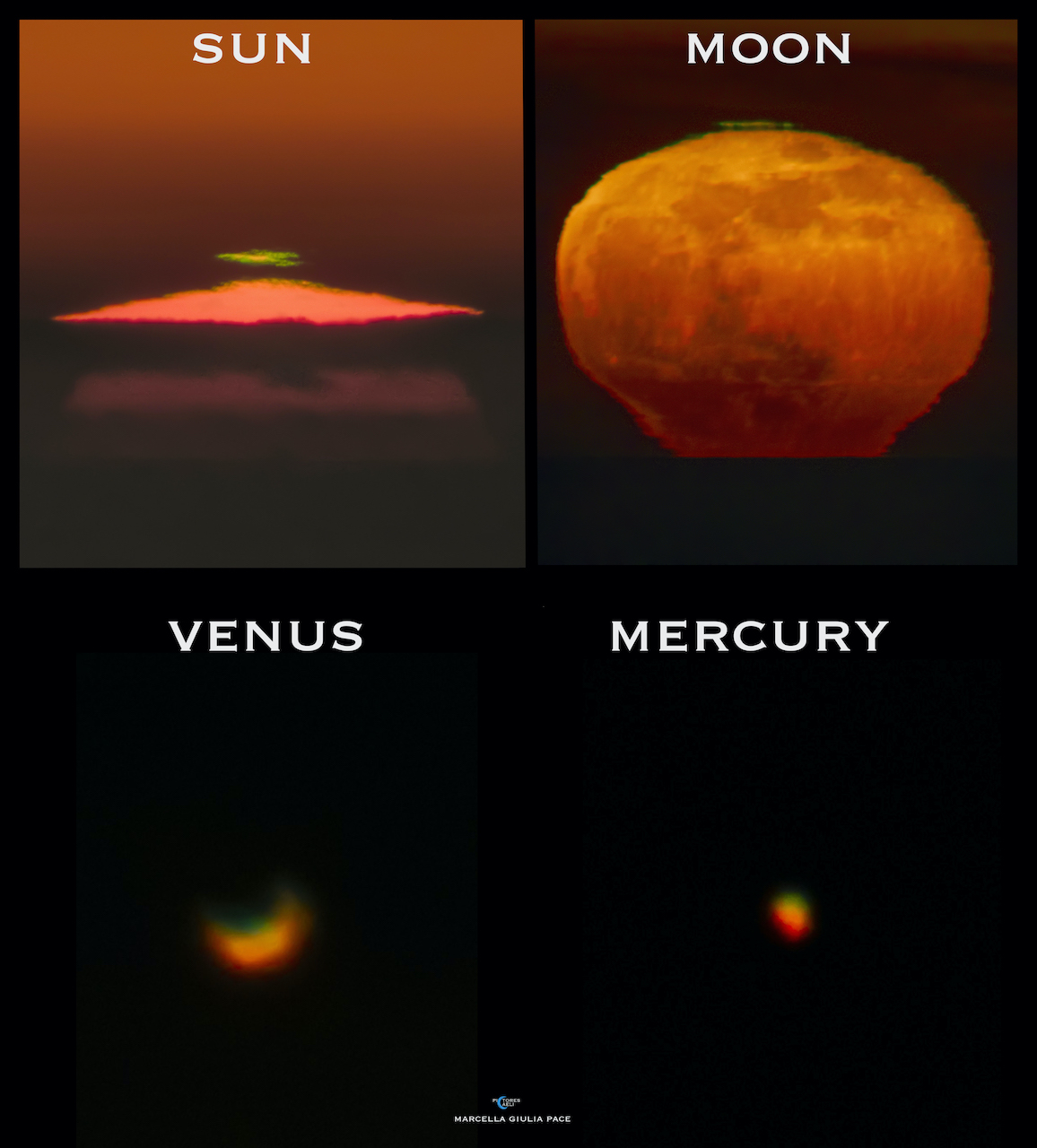 Green Flashes: Sun, Moon, Venus, Mercury