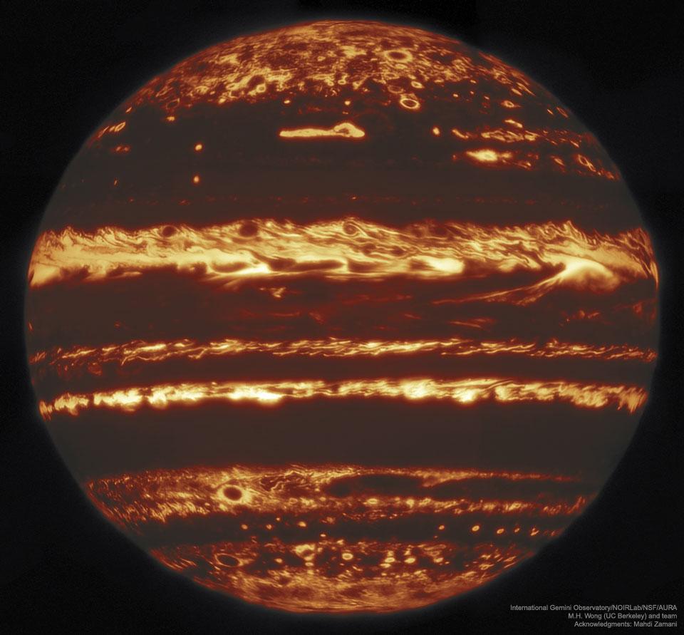 Jupiter infračerveně z Gemini