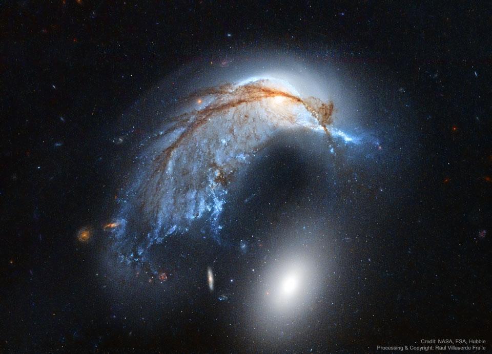 Galaxie Dikobraz z Hubbla