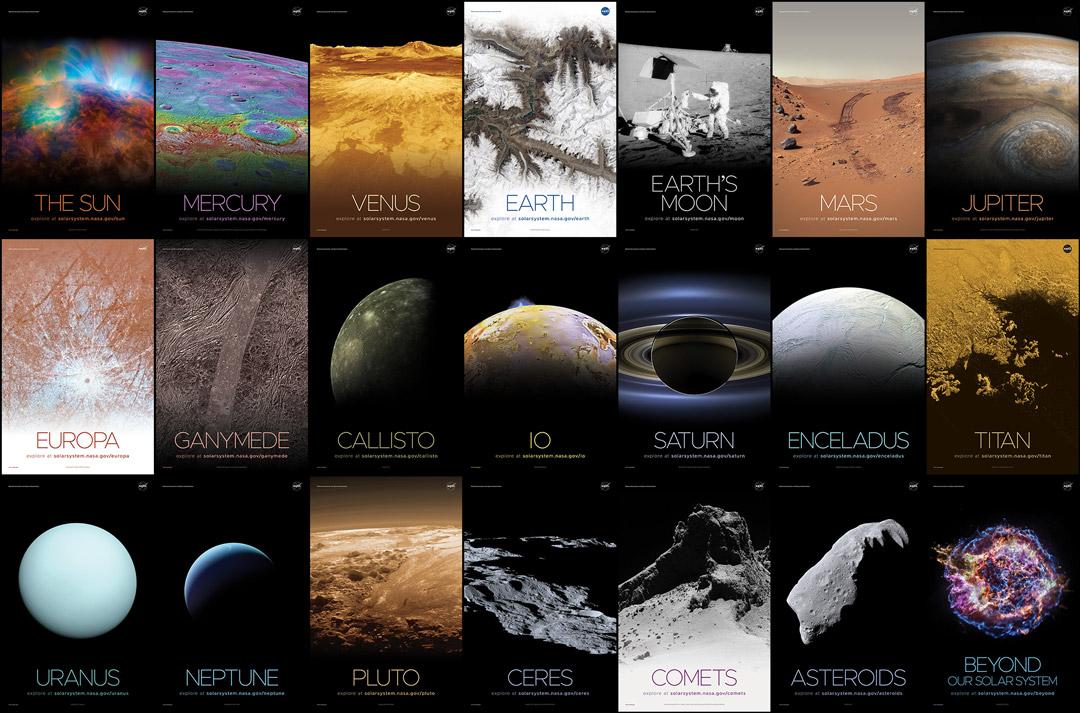 Carteles del sistema solar